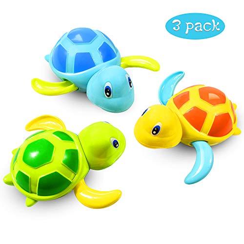 Baby Badespielzeug Baby Bade Bad Schwimmen Badewanne Pool Spielzeug Uhrwerk Schildkröte Schwimmbad Spielzeug Für Kleinkinder Jungen Mädchen(3 PCS, 3 Farbe)
