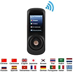 VBESTLIFE Inteligente Traductor de Voz Real Portátil,Habla en Tiempo,Traductor para Viajar,Aprender, Reuniones de Negocios,Precisa Multilingüe,Tiene 16 Idiomas