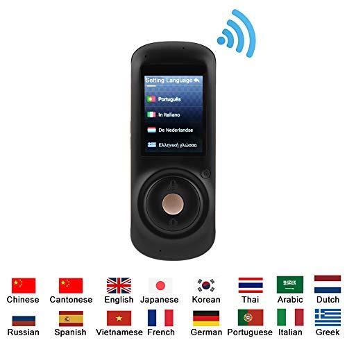VBESTLIFE 37 Sprachen Translator,Tragbarer intelligenter realer Sprachübersetzer, Mehrsprachiger genauer Reise Übersetzer mit 2,4 Zoll Touch Bildschirm für Reisen, Einkaufen,Unterhaltung, Lernen