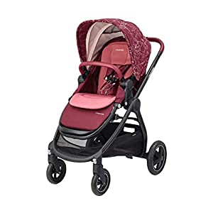 Maxi-Cosi Adorra Baby Pushchair, Comfortable and Lightweight Stroller with Huge Shopping Basket, Suitable from Birth, 0 Months - 3.5 Years, 0-15 kg, Marble Plum   1