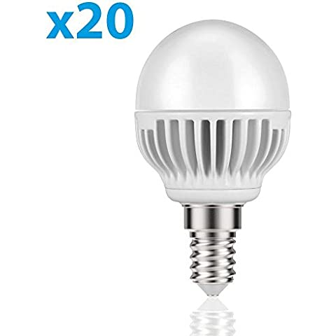 parlat E14 LED Lampadina 5W =32W 350lm 140° bianca calda, 20 PZ