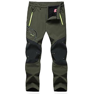 GITVIENAR Men's Wear-resisting Waterproof Windproof Fleece Softshell Skiing Hunting Pants Reinforced Knees from M.Baxter