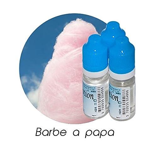 MA POTION - Lot de 3 E-Liquide Barbe a papa, Eliquide Français Ma Potion, recharge liquide cigarette électronique. Sans nicotine ni tabac