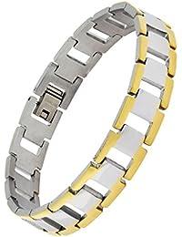 0b248be86739 Le Jewelbox Zivom Italien 316L en Acier Inoxydable Chirurgical Or 18 K Rhodium  plaqué Bracelet pour