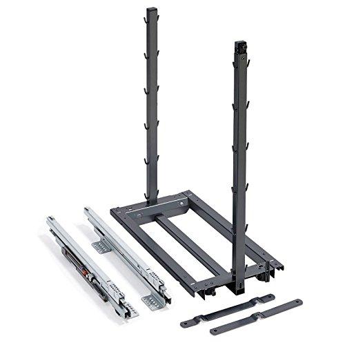 Dispensa Junior III anthrazit Bodenmontage für 300 mm Unterschrank Auszugsrahmen Küchenschrankauszug von SO-TECH®
