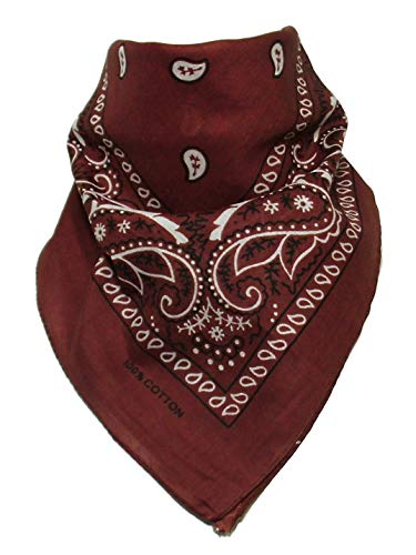 Price comparison product image Bandana with original Paisley pattern in brown