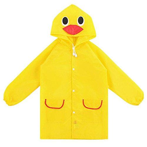 Highdas-Kind-Karikatur mit Kapuze Raincoat 90-130cm (gelbe Ente)