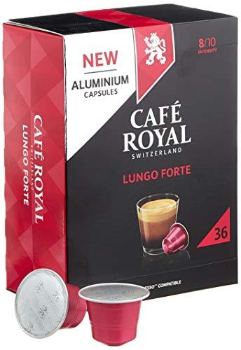 Café Royal Lungo Forte 36 Nespresso kompatible Kapseln aus Aluminium, Intensität 8/10