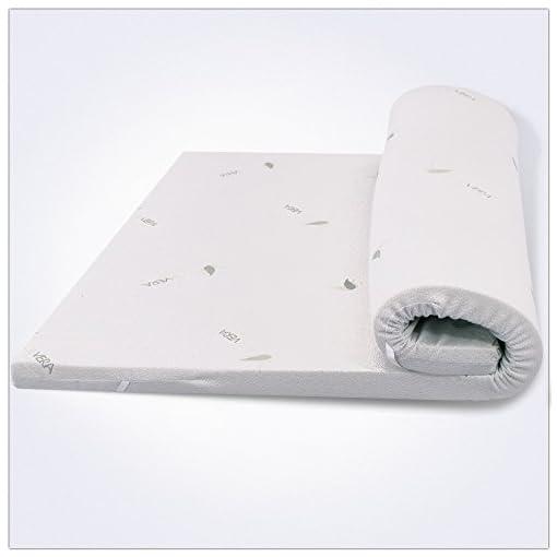 Miasuite - Topper Memory Foam per materasso Singolo 110x200x8 Cm ...