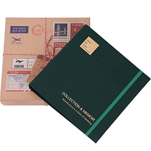 Amycute - Álbum de billetes con 200 bolsillos, organizador para guardar deportes, películas, conciertos, billetes de avión, billetes, billetes, libros de colección, color azul oscuro With Gift Box