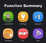 PUMPKIN Android 9.0 Autoradio Radio mit Navi 4GB / 8 Core Unterstützt Bluetooth DAB + Android Auto USB WiFi MicroSD 2 Din 7 Zoll Bildschirm
