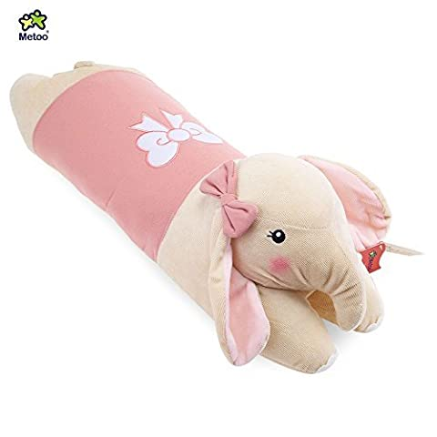 Stuffed Elephant Plush Doll Toy Cushion Pillow Christmas Gift (Shallow Pink)