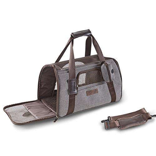 URBAN HABITAT Tragetasche für kleine Hunde und Katzen Transporttasche mit Schultergurt Airline Genehmigte Hundetragetasche