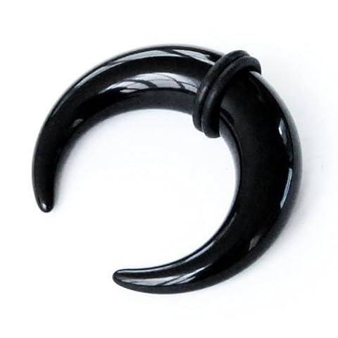 Black Acrylic Buffalo Horn Taper Choose Your Size! Claw Flesh Tunnels Bull Expander U Ear Stretcher Plug 10MM