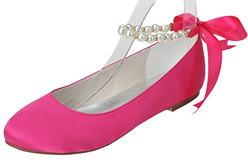 ZHENGXF Escarpins talon femme šŠlšŠgant Chaussure de marišŠe mariage Rouge