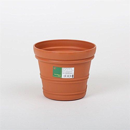 DELLT- Résine Convex Intérieur Pots de fleurs Brown taille moyenne et petite fleur Pots ( taille : # 6 )