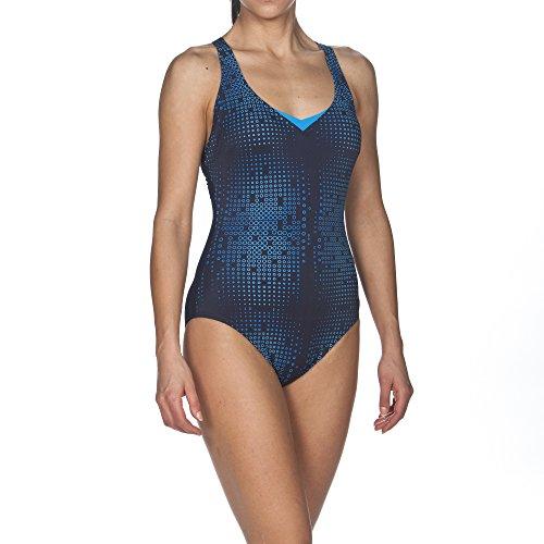 ARES5 Damen Arena Bodylift Badeanzug Gina C-Cup, Navy-Turquoise, 40