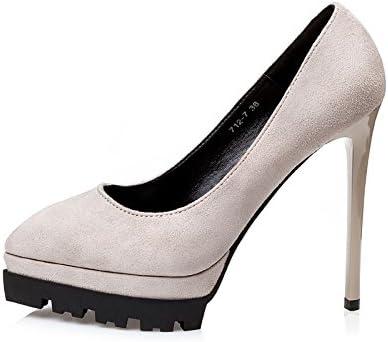YMFIE Señoras moda elegante temperamento señalado y gamuza sexy parte banquete los zapatos de tacón alto zapatos...