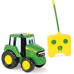 TOMY - Tracteur Jouet Enfant, Johnny le Tracteur Radiocommandé de John Deere 42946, Jouet Éducatif, Jouet Premier Age, Voiture Télécommandée Adaptée aux Enfants de 18 mois+