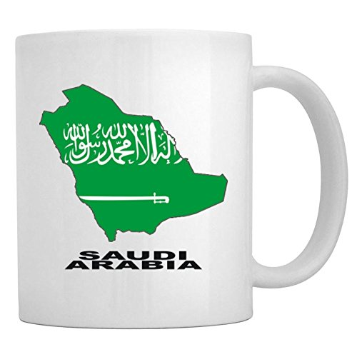 Teeburon Saudi Arabia Country Map Color Tasse