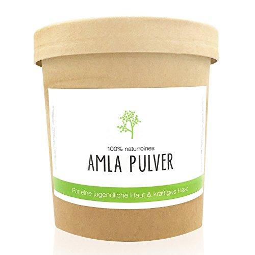 200g de poudre d'amla | 100% naturelle | Peau et cheveux | Masque pour le visage & shampoing | Soin naturel à base de plante naturelle d'amalaki | Pure Amla Hair- & Skincare Powder