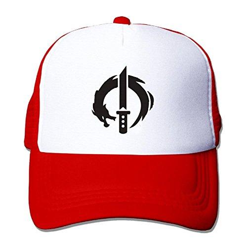 Unisex over watch genji dragon blade Baseball Hat Mesh Back Trucker Vintage (5 colours) (Dragon Visier Baumwolle)