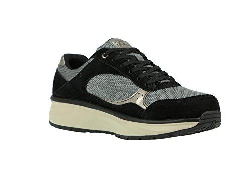 Joya –, Tina Silver/Black, 611spo, Chaussures à lacets femme Noir - schwarz (silver/black)