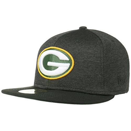 New Era - Green Bay Packers - 59fifty Basecap - Nfl Shadow Tech - Black - 7 3/4 - 62cm (XXL) (Bay Packers Xxl Mütze Green)