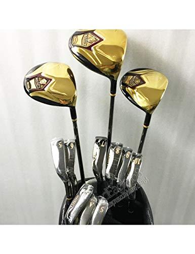 HDPP Golfschläger New Herren Majestät Super 7 Compelete Club Set 1.3.5 Holz + Eisen + Tasche Graphit Golfschaft Golfschläger -