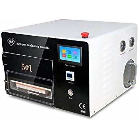 KKmoon 5 in 1 Macchina di Laminazione Multifunzionale Laminating Machine OCA Macchina di Rimozione di Bolla Compressore d'aria Incorporato di Pompa a Vuoto AC220V Sistema Operativo di Tocco