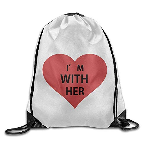 Naiyin Unisex Drawstring Backpack, Katy Perry I'm with Her Sport Backpack Drawstring Print Bag