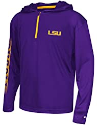 """LSU Tigers Youth NCAA """"Sleet"""" 1/4 Zip Pullover Hooded WindShirt Chemise"""