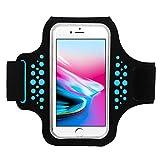 Guzack Brassard Sport Sumsung S8/S8 Plus iPhone 8 Plus/7 Plus, Universel Anti-Sueur Sweatproof réglable Brassard de téléphone Armband Pour Jogging Gym Course Jusqu'à 5.8 Pouces
