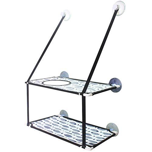 Wood.L Robuste Katze-Fenster-Hängematte mit starkem Saugnapf und rostfreiem Kabel abnehmbare Katze-Hängematte-Fenster Barsch-Balkon-Saugnapf und sonniger Katzensitz - bietet bequemes Sonnenbad und -
