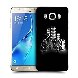 Snoogg Grey And White Abstract Designer Protective Back Case Cover For SAMSUNG GALAXY J7 2016 J710X