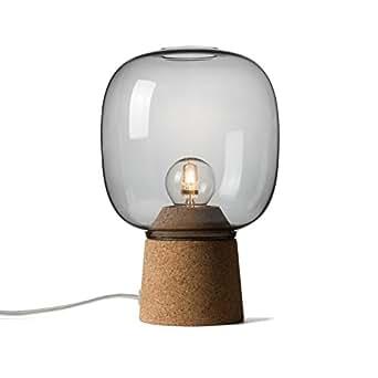 Enrico Zanolla Picia vetro e sughero lampada da tavolo, fumo ltpc23sc