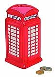 Keramik-Spardose in Rot Londoner-Telefonzelle