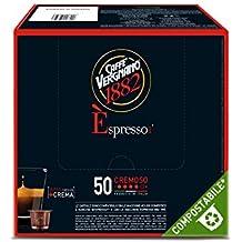 Caffè Vergnano 1882 Èspresso1882 Cremoso - 50 Capsule - Compatibili Nespresso - Casa Casa Miscela Di Caffè