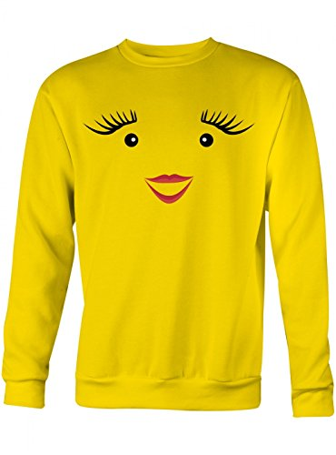 Shirt Happenz Kostüm Milch Premium Sweatshirt | Verkleidung | Karneval | Fasching | Unisex | Sweatshirts, Farbe:Gelb;Größe:XXL