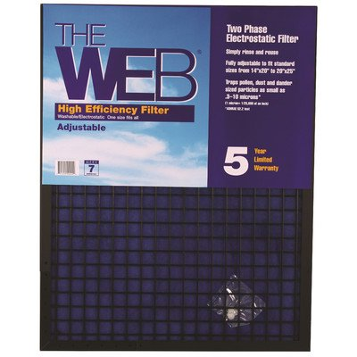 Web web11224 Hohe Effizienz 2,5 cm dicker Filter, 30,5 x 61 x 2,5 cm (29,5 x 60 cm) (12x24x1 Air Filter)