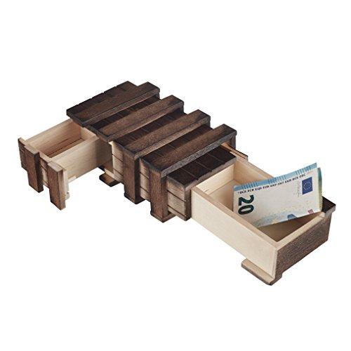 Ohrring-teile (Zauberhafte Holzgeschenkbox - mit 2 Fächern zum kreativen Verschenken von Gutscheinen, Schmuck und Geld (mit 2 beweglichen Teilen))
