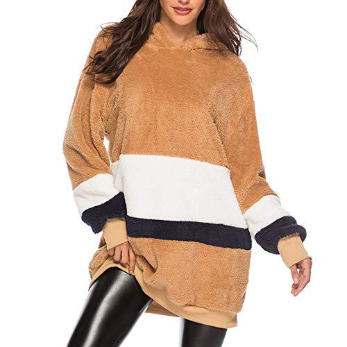 Day.LIN Kapuzenrobe, Damen Hoodie Sweatshirt Kapuzenpullover Herbst Winter Frauen Jumper Langarmshirt Streetwear Kapuzenpulli Bluse Tops