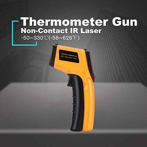 Punto Láser MXECO sin Contacto LCD Digital termómetro infrarrojo IR Pistola térmica Infrared Imaging Temperatura Medidor Portátil Pirómetro