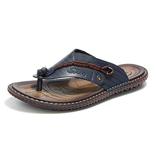 Gracosy Flip Flops, Unisex Zehentrenner Flache Hausschuhe Pantoletten Sommer Schuhe Slippers Weich Anti-Rutsch T-Strap Sandalen für Herren Damen(Hersteller-Größentabelle im Bild Beachten) (Flip-flop-bilder)