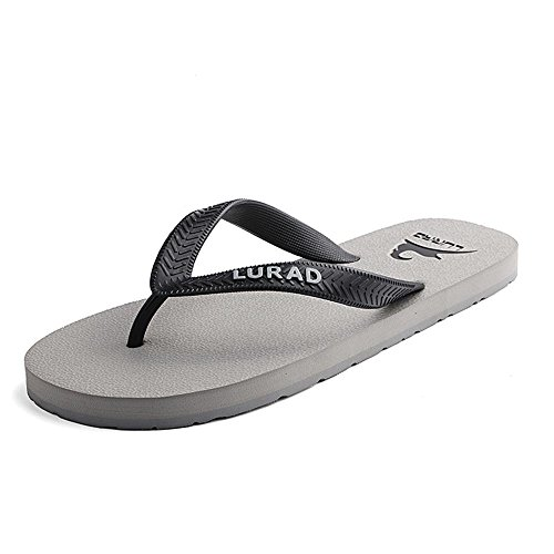 ALUK- Sommer Sandalen - Herren Füße Tragen Tragen Trend Einfache Strand Cool Pantoffeln ( Farbe : Gray , größe : 39 ) Gray