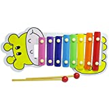 Jef Cartoon Animal Premium Wooden Xylophone / Hand Knock Piano - Musical Toys ( Colour As Per Stock )