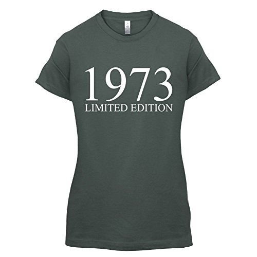 1973 Limierte Auflage / Limited Edition - 44. Geburtstag - Damen T-Shirt - 14 Farben Dunkelgrau