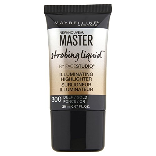 MAYBELLINE Facestudio Master Strobing Liquid Illuminating Highlighter - 300 Deep/Gold (Illuminating Highlighter)