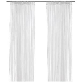 ikea lill voilage 1 paire blanc 280 x 300 cm amazon. Black Bedroom Furniture Sets. Home Design Ideas