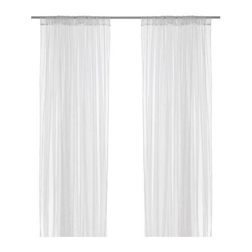 IKEA LILL - Sheer curtains, 1 pair, white - 280x300 cm